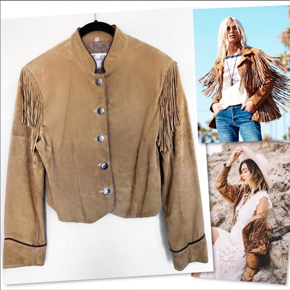 Scully Jackets & Blazers - SCULLY RODEO WESTERN SUEDE LEATHER FRINGE JACKET
